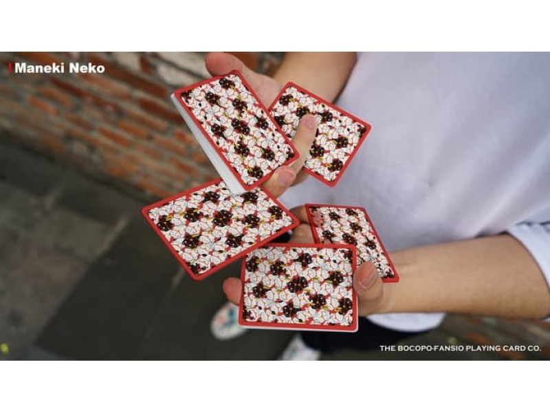 Playing Cards Poker Spielkarten Cardistry RED Bicycle Maneki Neko